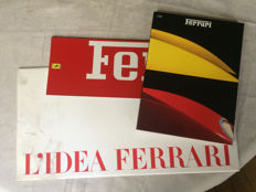 Portfolio of the Ferrari Idea introduction, Yearbook 1990 and range leaflet 1994