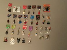 Assorted - 17 key chains and 17 mini figures