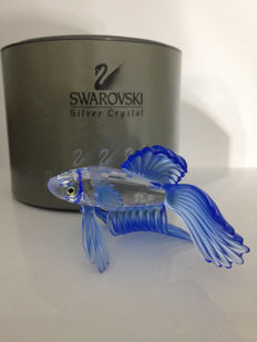 Swarovski - Blue fighting fish