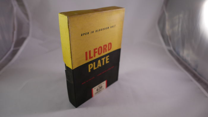 VERY RARE ILFORD PLATE  very big 13X18   glass photographic plates. to very old cameras -