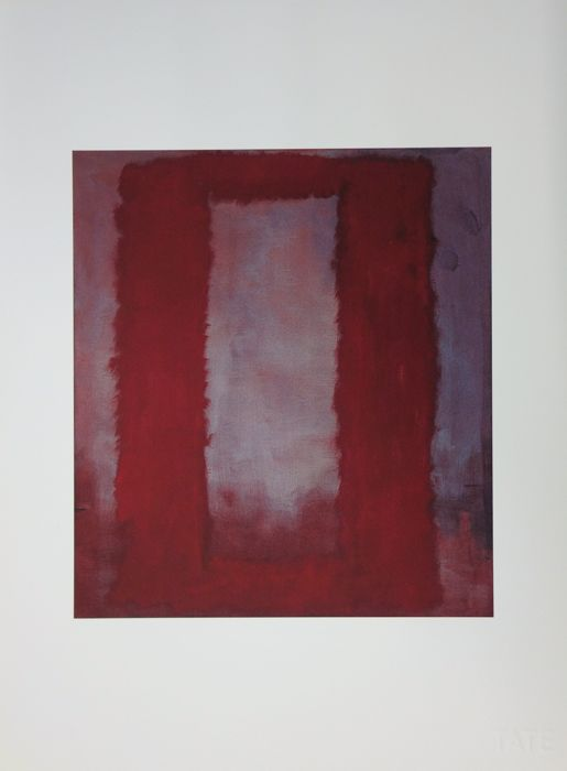 Mark ROTHKO (after) - Seagram Murals, Red on White