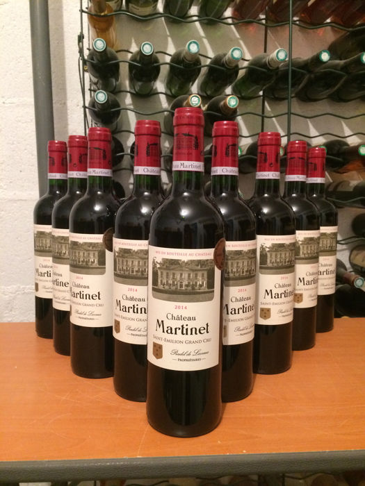 2014 Château Martinet, Saint Emilion Grand Cru - 12 bottles