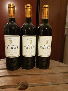 2005 Chateau Talbot, Saint Julien - 3 bottles (0,75L)