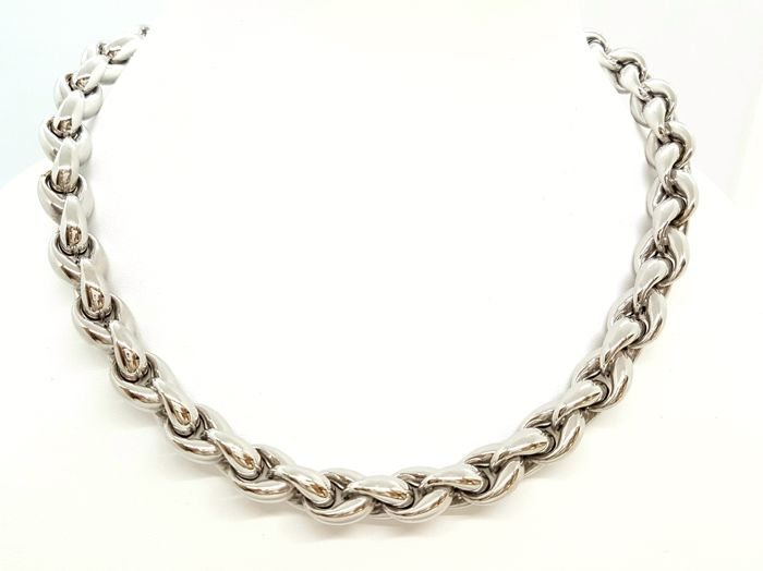 Necklace - 18 kt white gold - Hinged chain - 42 cm