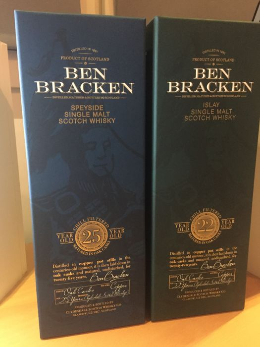 2 bottles - Ben Bracken set - 25 years and 22 years by Clydesdale