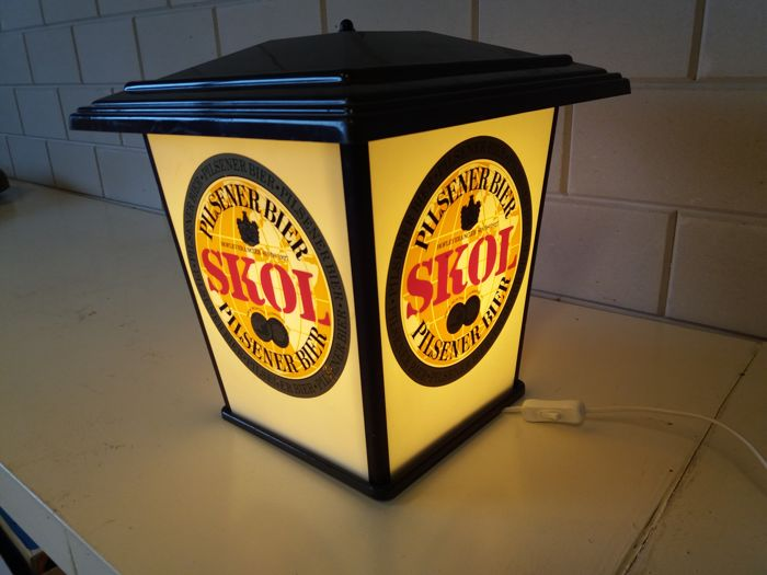 Beautiful original Skol advertising lamp - 1970s