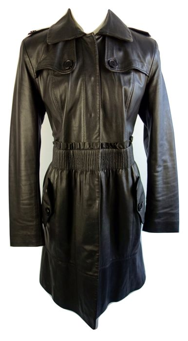QI-DO leatherwear - Lederen trenchcoat