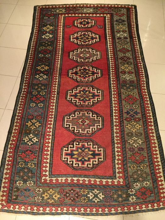 Antique Kazak Moghan 190 x 105