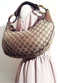 Gucci - Bamboo Monogram Shoulder Bag Handtas