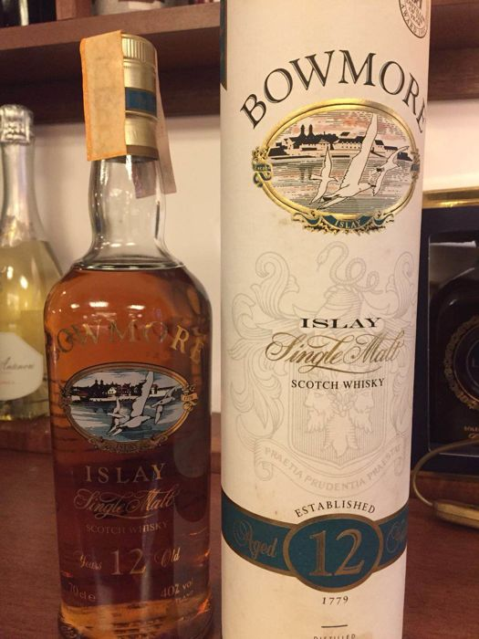 Bowmore 12 years old - screen printed - bottled 1990s - OB
