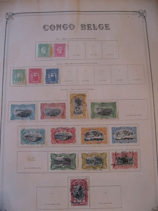 Belgian Congo 1886/1923 – Collection of stamps