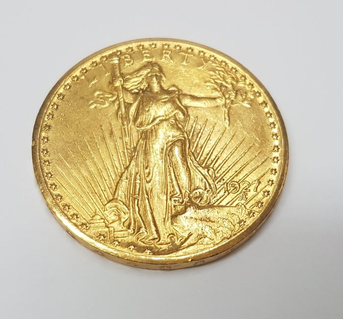 Gold bullion coin 20 dollar US 'Double Eagle' Saint Gaudens