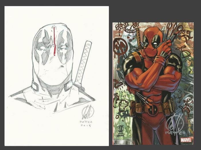 Lolli, Matteo - Deadpool Dedicace Comic Con Paris 2015 + limited edition album