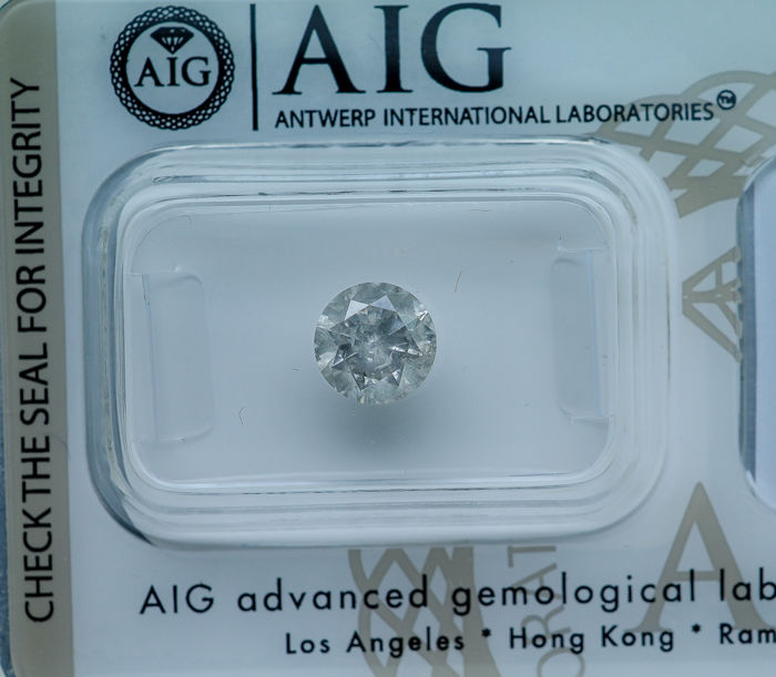 1.12 ct - Natural White Diamond - G Color I3 * NO RESERVE *