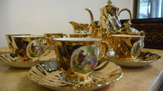 Bavaria Germany - Dinnerware with gold-plating, 6 persons