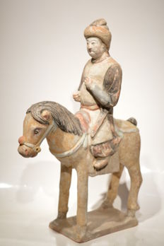Ming horse rider - Size H: 305 mm - W:270 mm