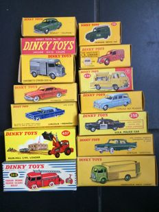 14 empty boxes of origin for small cars of the brand Dinky Toys