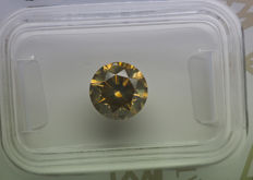 1.62 ct - Natural Fancy Diamond - Grayish Greenish Yellow - SI1  * NO RESERVE *