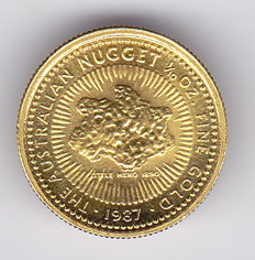 Australia – 15 Dollars 1987 Nugget – 1/10 oz gold