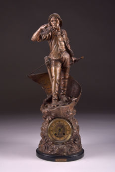 Large rare clock 71 cm - Germany - Approx. 1880