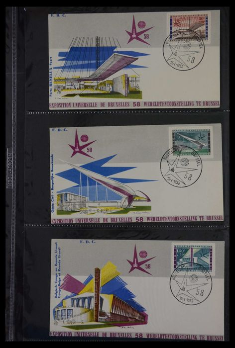 België 1974/2012 - Collectie 1.500 FDC's in 9 albums