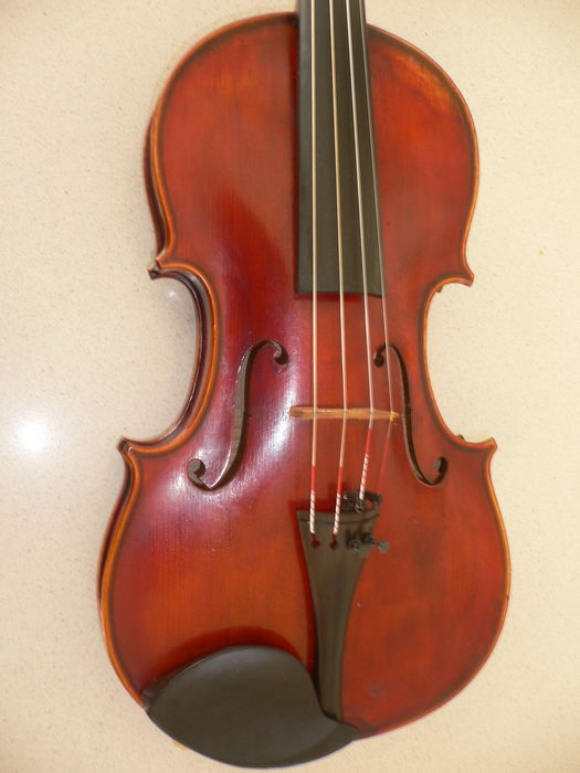 Beautiful intact Bohemian 4/4 violin from Alphonsus VAVRA from 1934, beautiful, warm and balanced sound