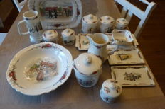 Sarregemines Obernai – dinnerware, 15 pieces
