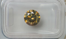 2.12 ct - Natural Fancy Diamond - Grayish Yellow - SI1 * NO RESERVE *