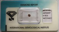 Natural Fancy Greyish Pink Diamond 0.15 ct with IGI certificate