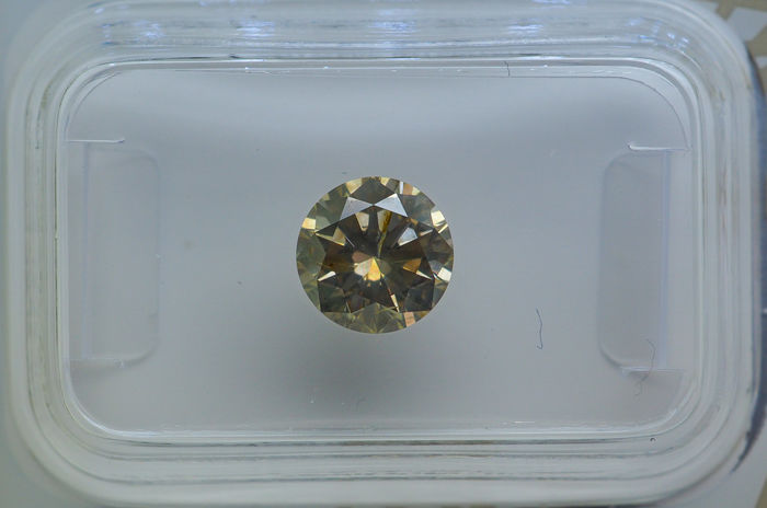 1.07 ct - Natural Fancy Diamond - Grayish Yellow - I1  *Low Reserve Price*