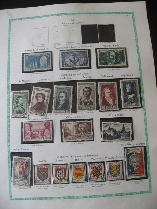 France 1951/1959 - Nearly complete stamp collection