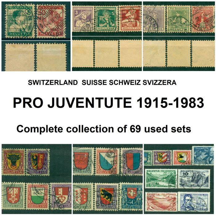 Switzerland 1915/1983 - Pro Juventute, complete collection.