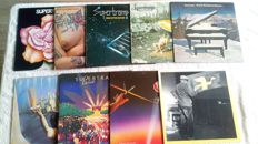 A very nice lot of 9 lp's including 1 doublealbum by Supertramp. Their first 8 lp's are in this lot!!!