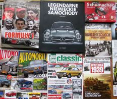 Polish language books and magazines on classic cars and formula 1