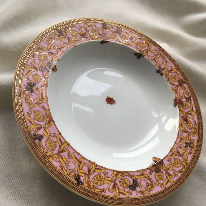 Versace by Rosenthal porcelain, Versace set of 2 plates type Jardin