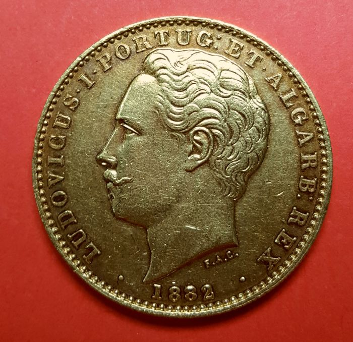 Portugal Monarchy – D. Luís I (1861-1889) – 10,000 Reis – 1882 – Gold