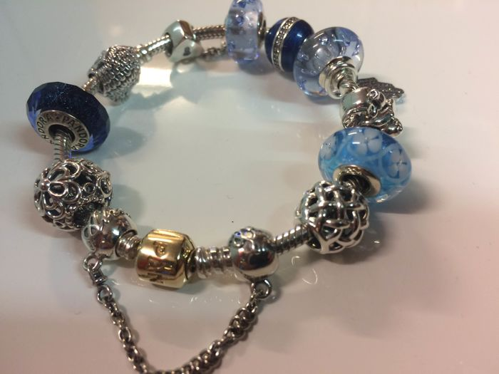 Pandora - Original bracelet with 12 charms