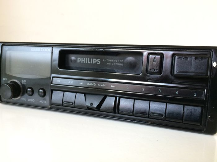 Vintage stereo Philips DC401 radio-cassette (1993)