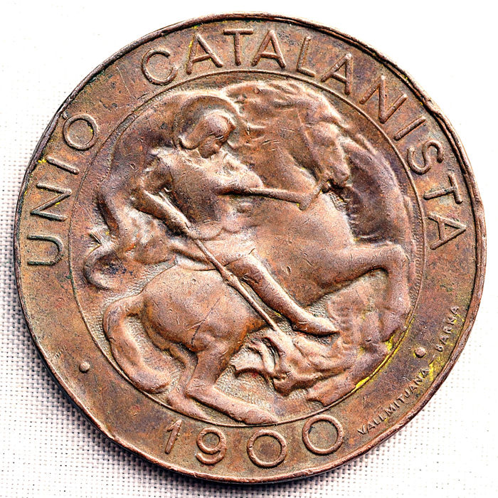 Spain - Unio Catalanista - Smooth minting VARIANT - 10 cents - 1900 - Barcelona - Very scarce