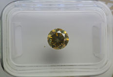 0.92 ct - Lot Natural Fancy Diamond - Grayish Greenish Yellow - SI1 * NO RESERVE *