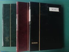 British Commonwealth - three stock books with collections of Nauru, Vanuatu, Ascension Island, Saint Helena and Tristan da Cunha