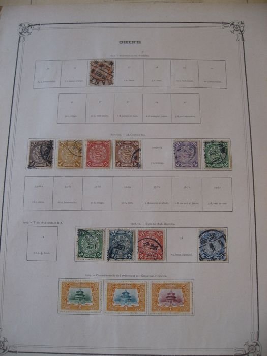China and foreign offices in China 1880/1910 – Collection of Stamps