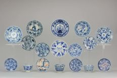 Large Lot Chinese Porcelain Cups Saucers Rooster etc - China - 18/19C