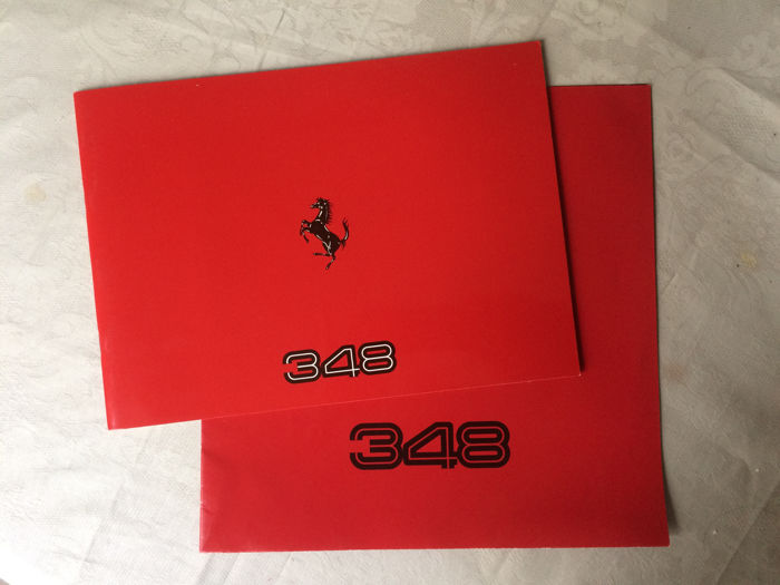 Introduction catalogue and brochure of the Ferrari 348
