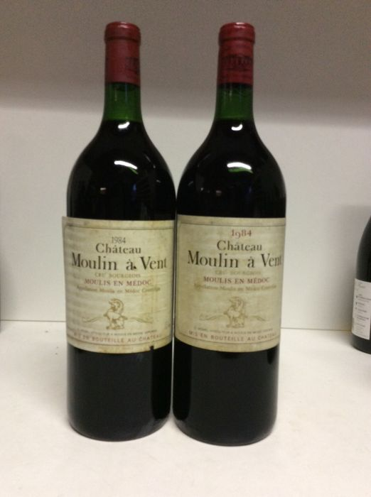 1984 Chateau Moulin-a-Vent Cru Bougeois , Moulis-en-Medoc, France , 2 Magnums 1,5L