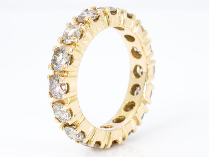 2.75 Ct - elegant diamond eternity ring - 18k yellow gold -  **NO Reserve price**