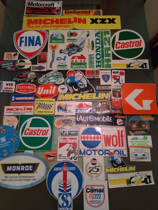 50 Vintage Collection Automobile stickers