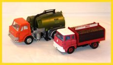 Dinky Toys - Ford D800 Road Sweeper #451 / Bedford Coca-Cola # 402