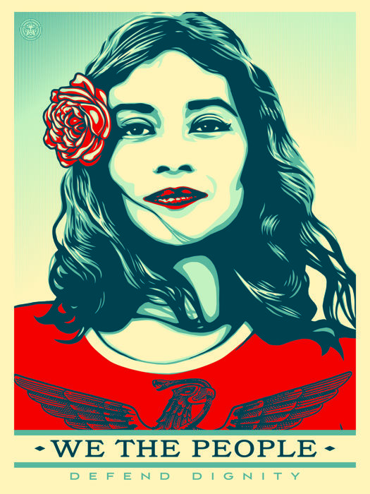 Shepard Fairey (OBEY) - We the people, defend dignity - 2017