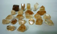 Beautiful Champagne Color Topaz Crystals Lot - 333 Carats